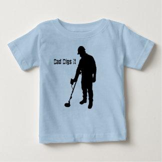 Metal Detecting - Dad Digs It - Infant Shirt
