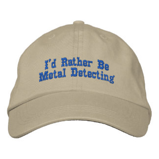 Metal Detecting Hat Embroidered Hats