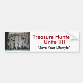 Metal Detecting Items, Treasure Hunters Unite !!!! Bumper Sticker