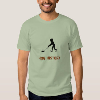 Metal Detector Dig History Silhouette T-shirts