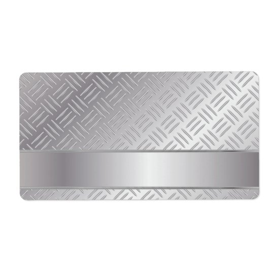 Metal diamond pattern shipping label