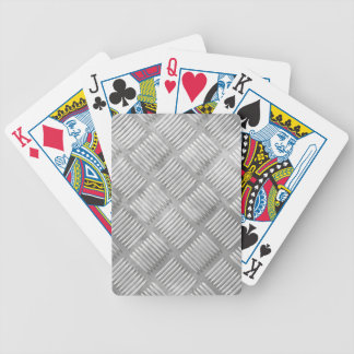 Metal diamond plate bicycle playing cards