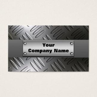 Metal Diamond Plate Business Cards
