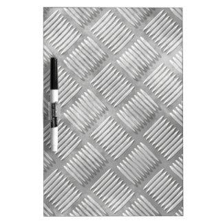 Metal diamond plate dry erase board