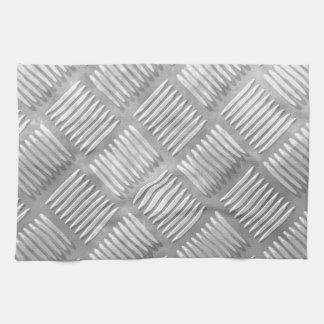 Metal diamond plate kitchen towel