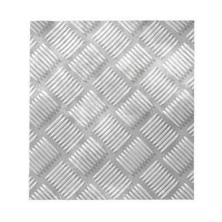 Metal diamond plate notepads