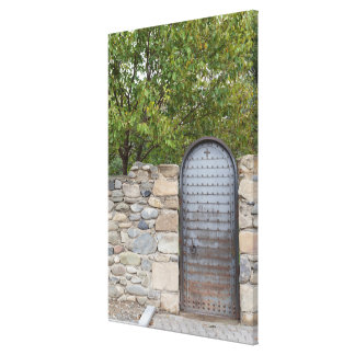 Metal Door And Wall Canvas Print