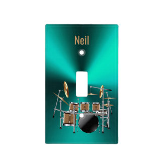Metal Drum Set Personalized Light Switch Cover