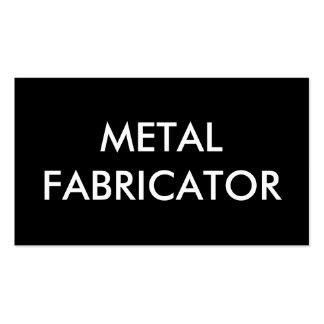 metal fabricator business card