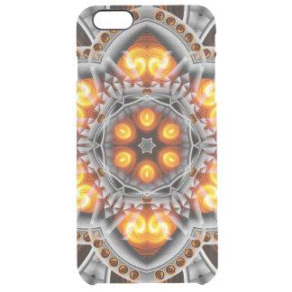 Metal & Flame Mandala Clear iPhone 6 Plus Case