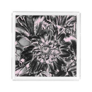 Metal Flowers Acrylic Tray