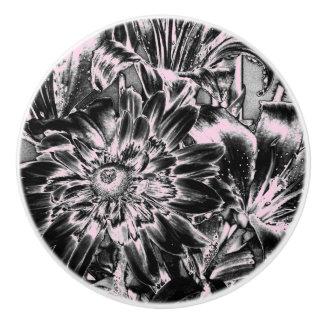 Metal Flowers Ceramic Knob