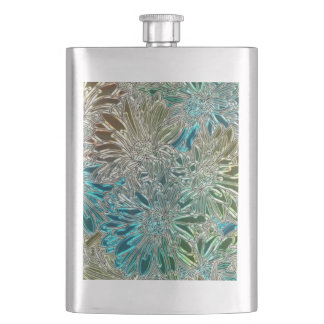 Metal Flowers Hip Flask
