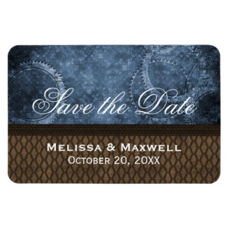 Metal Gears Save the Date Flexi Magnet, Blue