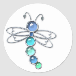 Metal & Glass Dragonfly Stickers