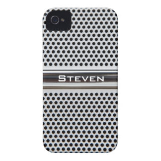 Metal grid personalized iPhone case