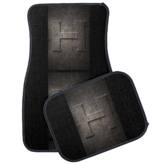 Metal H Monogram Set of Car Mats Auto Mat