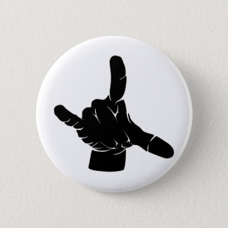 Metal hand at grindcore concert 2 inch round button