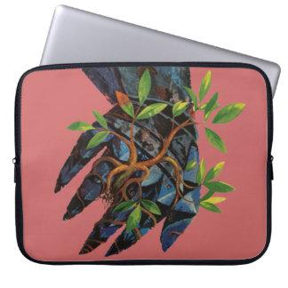 Metal Hand Growing Tree Laptop Case Lemuel Line Laptop Computer Sleeves
