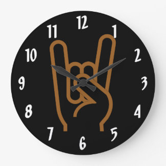 Metal Hand Large Clock