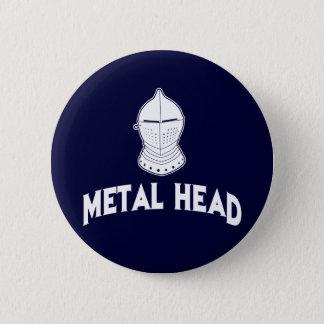 Metal Head 2 Inch Round Button