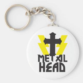 METAL HEAD BASIC ROUND BUTTON KEYCHAIN
