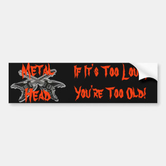 Metal Head Bumper Sticker