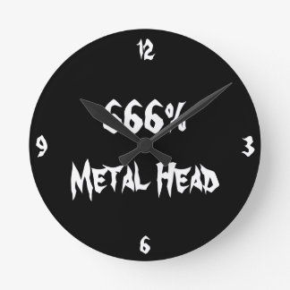 Metal Head Round Clock