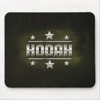 Metal Hooah Text Mouse Pad