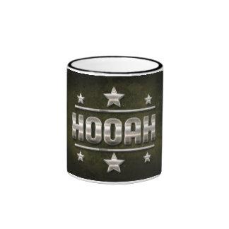 Metal Hooah Text Ringer Coffee Mug
