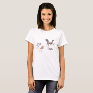 Metal-Horned Unicorn Couple - Silubhra and Nix T-Shirt