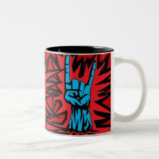 "Metal Horns ""Mug"" Two-Tone Coffee Mug"