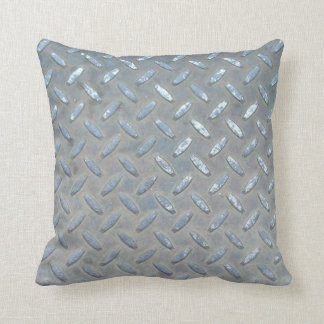 Metal Iron Steel Throw Pillow