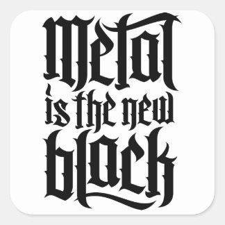 Metal is the new black No.2 (black) Square Sticker