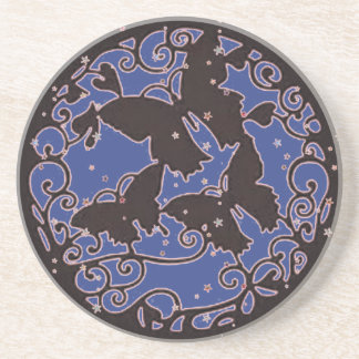 Metal LIke Blue Butterfly Coaster