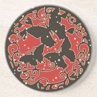 Metal LIke Red Butterfly Coaster