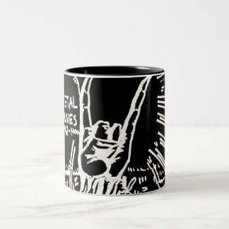 "Metal Lives ""Mug"" Two-Tone Coffee Mug"