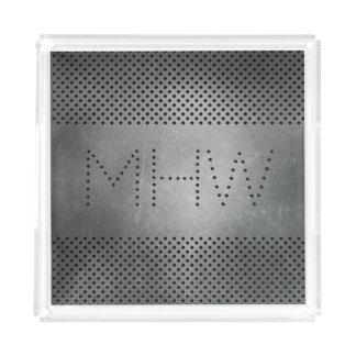 Metal Look custom monogram trays