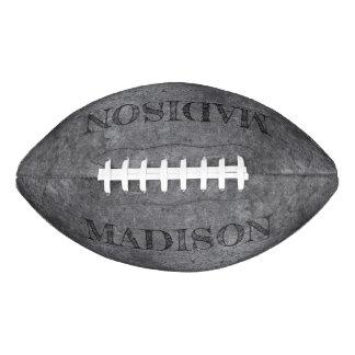 Metal Look custom name football