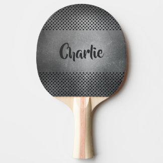 Metal Look custom name ping pong paddle