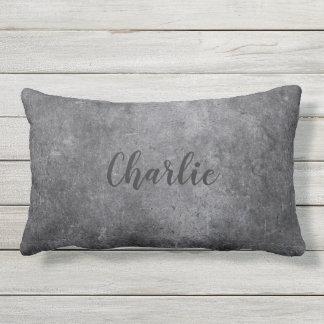 Metal Look custom name throw pillows