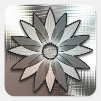 Metal Look Daisy Flower Stickers