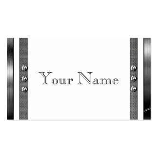 Metal Look Frame Border Business Cards