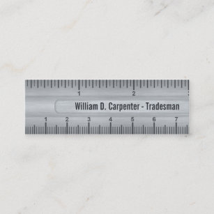 Ruler business cards business card printing zazzle ca metal look ruler rule construction business card colourmoves