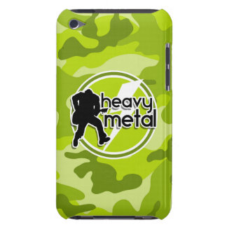 Métal lourd camo vert clair camouflage coques barely there iPod