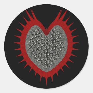 Metal Love Classic Round Sticker