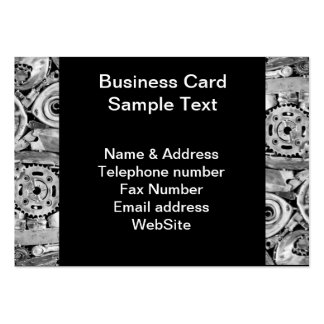 Metal machine parts welded together large business card