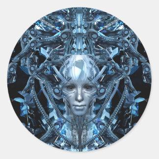 Metal Maiden Classic Round Sticker