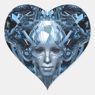 Metal Maiden Heart Sticker
