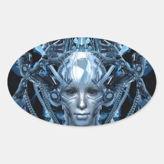 Metal Maiden Oval Sticker